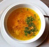 Фото плиты куриного супа Стоковые Фото