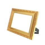 фото рамки золотистое Стоковое Фото