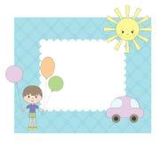 фото рамки мальчика иллюстрация вектора