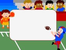 фото рамки футбола Стоковое Изображение RF