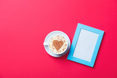фото рамки чашки Стоковое Фото