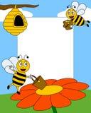фото рамки шаржа 2 пчел Стоковое фото RF