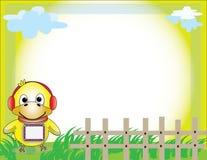 Фото рамки для желтого цвета детей Стоковые Изображения