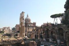 Фото римского форума в лете Стоковая Фотография RF