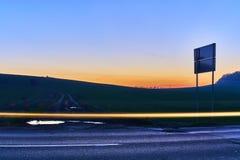 Фото светлого следа проходя корабля Стоковые Изображения