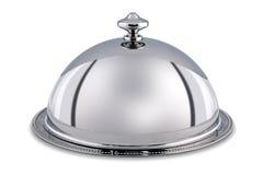 Серебряные купол или Cloche изолированные с путем клиппирования. Стоковая Фотография