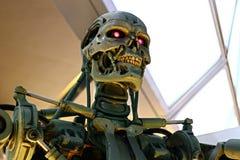 Фото скелета конца T-800 стоковое фото