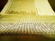 Фото списка зрачков Стоковое Фото
