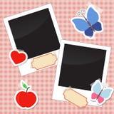 Фото, стикеры, бирки с лентой Стоковые Изображения RF