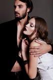Фото студии моды красивых сексуальных пар Стоковое фото RF