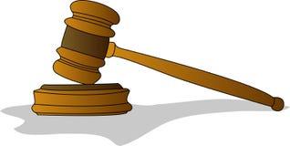 фото судьи gavel реалистическое Стоковое Фото