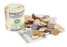 фото США доллара валюты принципиальной схемы монетное стоковое фото rf