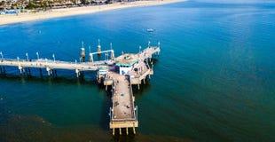Фото трутня пристани Лонг-Бич стоковое изображение rf