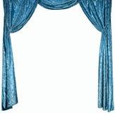 Фото умных занавесов от голубого бархата (не 3D) стоковая фотография