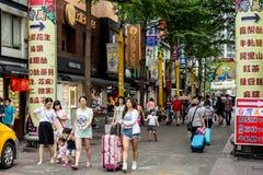 Фото улицы Тайбэя Стоковое Изображение