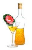 Цветок и желтые стекла Стоковые Изображения RF