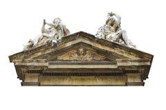 Фото церков щипца стиля барокко изолированное деталью стоковое фото rf