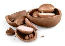 Фото черно-белого пасхального яйца шоколада Стоковое Фото