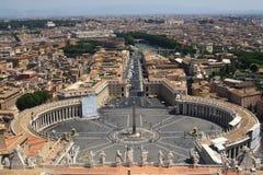Фото штока панорамы ландшафта Ватикана Стоковые Изображения