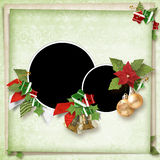 фото 2 рамки рождества Стоковые Фото