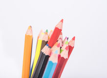 Фото crayons, карандаш крупного плана цвета Стоковое фото RF