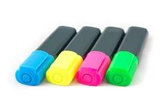 Фото highlighters цвета Стоковое Изображение RF