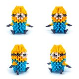 Фото mignons origami изолированных на белой предпосылке Стоковая Фотография