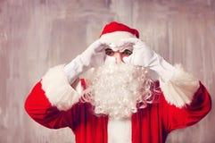 фото santa claus счастливое Стоковые Фотографии RF