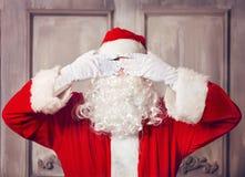 фото santa claus счастливое Стоковое Изображение RF
