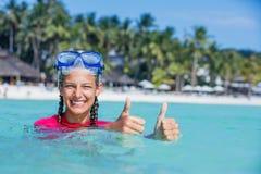 Фото snorkeling девушки Стоковая Фотография