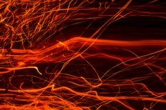 Фото sparkles огня Стоковое Изображение RF