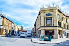 Фото Warner Bros. Путешествие Голливуд студии, внешние взгляды зданий студий братьев Warner стоковая фотография