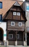 Фольклорная архитектура в Zelezny Brod, чехии стоковая фотография rf