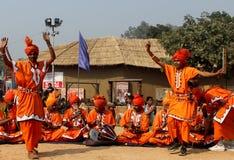 Фольклорная музыка и танец заклинателей змей Haryana, Индии Стоковое Фото