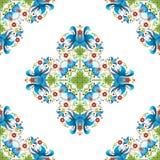 Фольклорные этнические флористические орнаменты также вектор иллюстрации притяжки corel иллюстрация штока