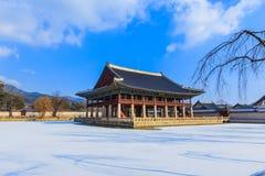 фольклорный дворец соотечественника музея Кореи gyeongbokgung Стоковые Фотографии RF