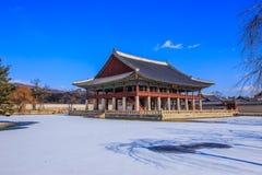 фольклорный дворец соотечественника музея Кореи gyeongbokgung стоковое изображение rf