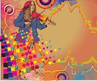 Фольклорный музыкант стоковое изображение rf