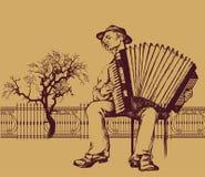 Фольклорный музыкант иллюстрация штока