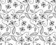 Фольклорный стилизованный флористический орнамент Стоковая Фотография