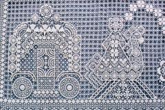 Фрагмент картины шнурка Стоковые Фотографии RF