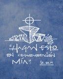 Фраза и символы Bliblical религиозные христианские Стоковые Изображения RF
