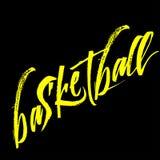 Фраза каллиграфии баскетбола изолированная на предпосылке Стоковые Фото