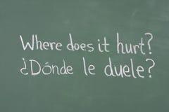 фраза chalkboard медицинская Стоковое фото RF