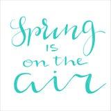 Фразы литерности весны Стоковые Фотографии RF