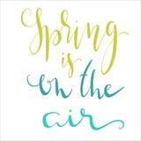 Фразы литерности весны Стоковые Фото