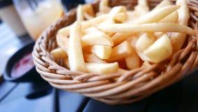 Фраи картошки в корзине Стоковое фото RF