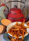 Фраи сладкого картофеля Стоковое Изображение RF