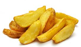 Фрай картошки на предпосылке изолированной белизной Стоковое Изображение RF