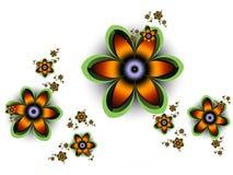 Фрактали: Яркие цветки фрактали на белой предпосылке бесплатная иллюстрация